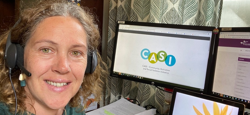 Image: Mel is the local community connector as part of the Community Activation and Social Isolation Initiative (CASI)  Link to child page: Community Activation and Social Isolation initiative (CASI)